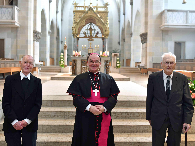 Tag der Priesterjubiläen in St. Ottilien: 65 Jahre im priesterlichen Dienst. (Fotos: Nicolas Schnall / pba)
