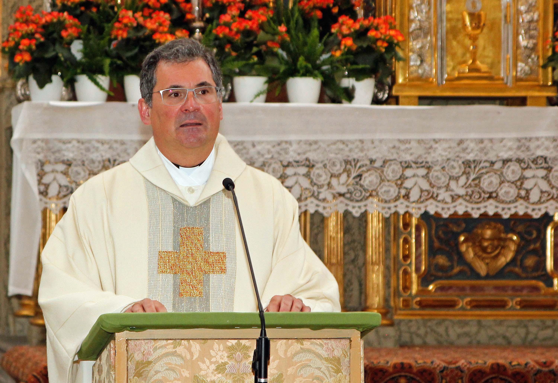 Diözesan-Caritasdirektor Dr. Andreas Magg beim heutigen Caritas-Gottesdienst in der Ulrichsbasilika. (Foto: Bernhard Gattner / Caritas Augsburg)