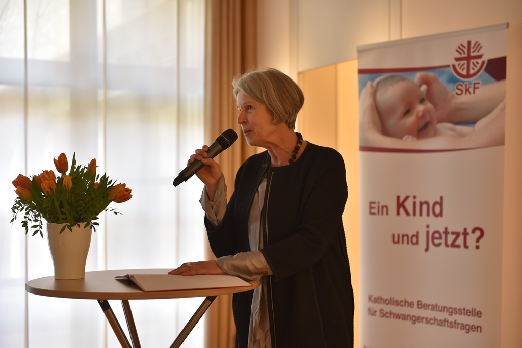 Gudrun Schubert, Vorsitzende des SkF, blickt auf die vergangenen 15 Jahre zurück. (Fotos: pba / Romana Kröling)