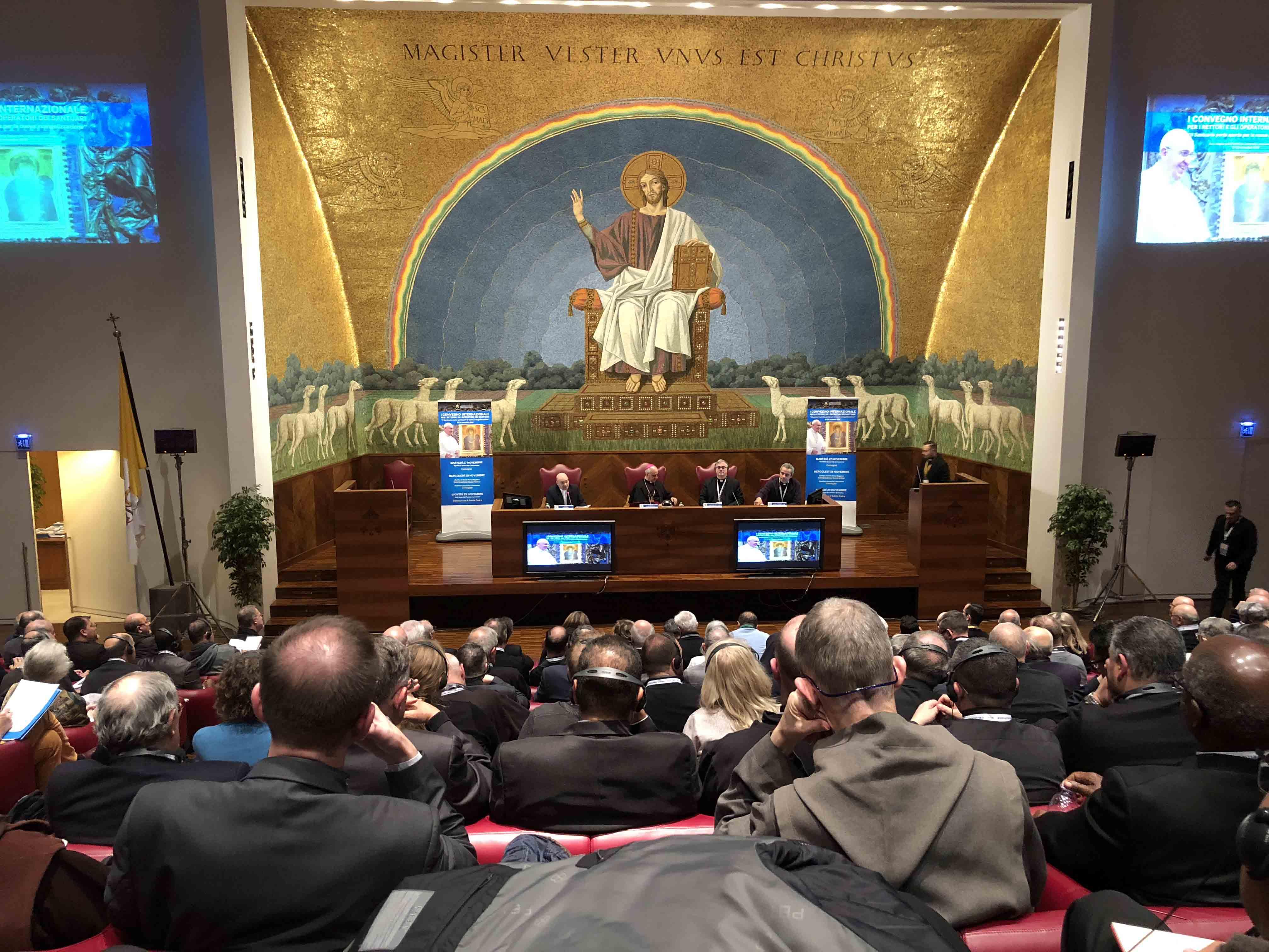 Mehr als 550 Wallfahrtsdirektoren trafen sich vergangenen Woche zu einem Kongress in der Lateranuniversität in Rom. (Foto: Erwin Reichart)