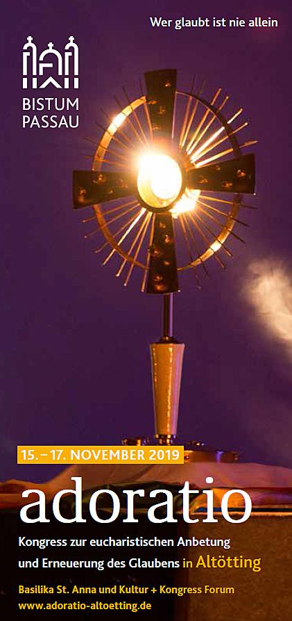 Kongress zur eucharistischen Anbetung - Kartenkontingent erweitert, Anmeldung wieder möglich