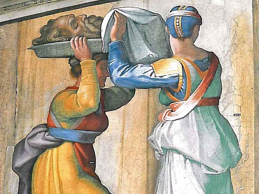 Judit und Holofernes in der Sixtina (Foto: wikimedia).