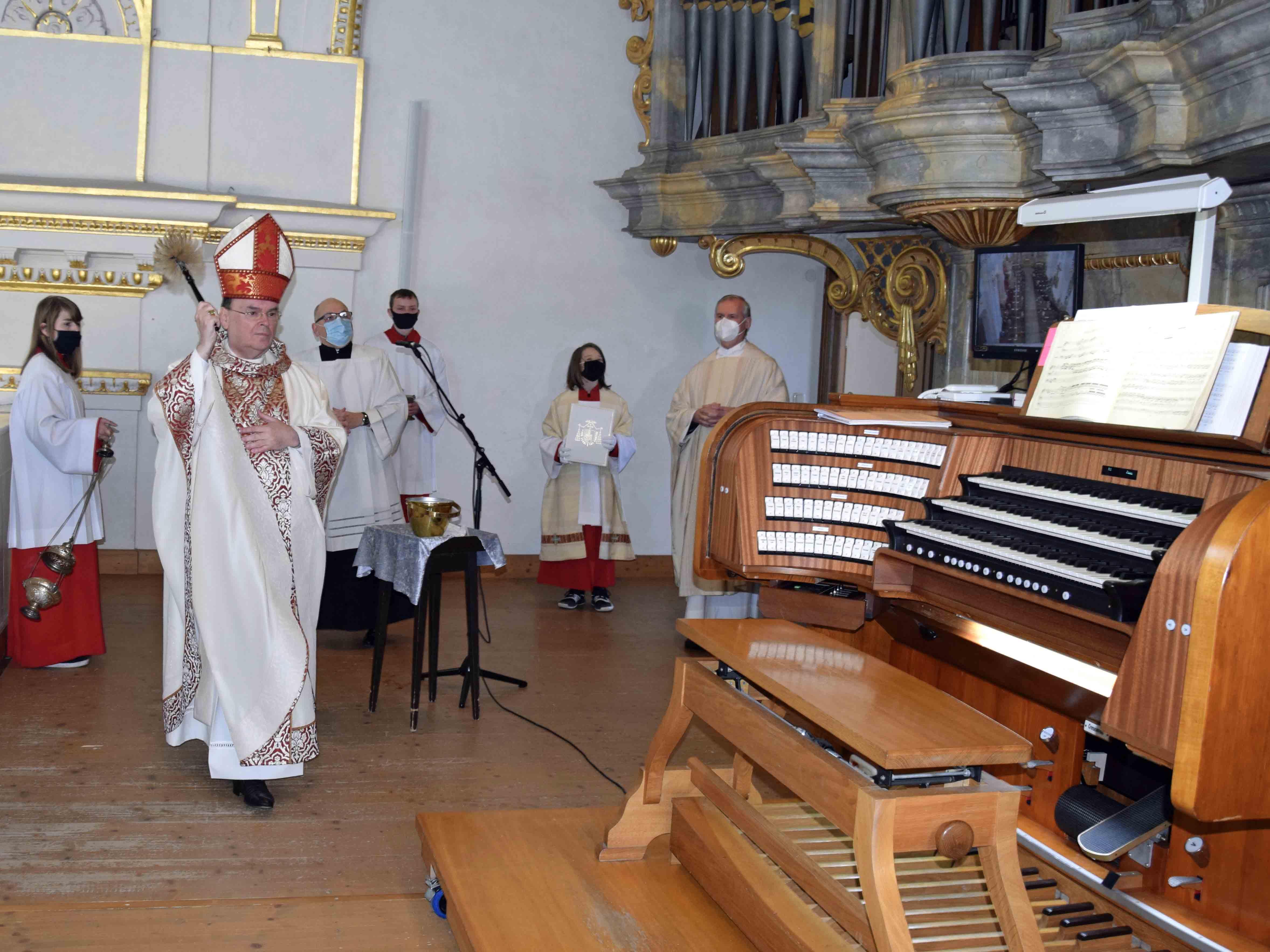 Orgelweihe mit Bischof Bertram in der Basilika St. Lorenz in Kempten. (Foto: Verspohl-Nitsche / pdke)