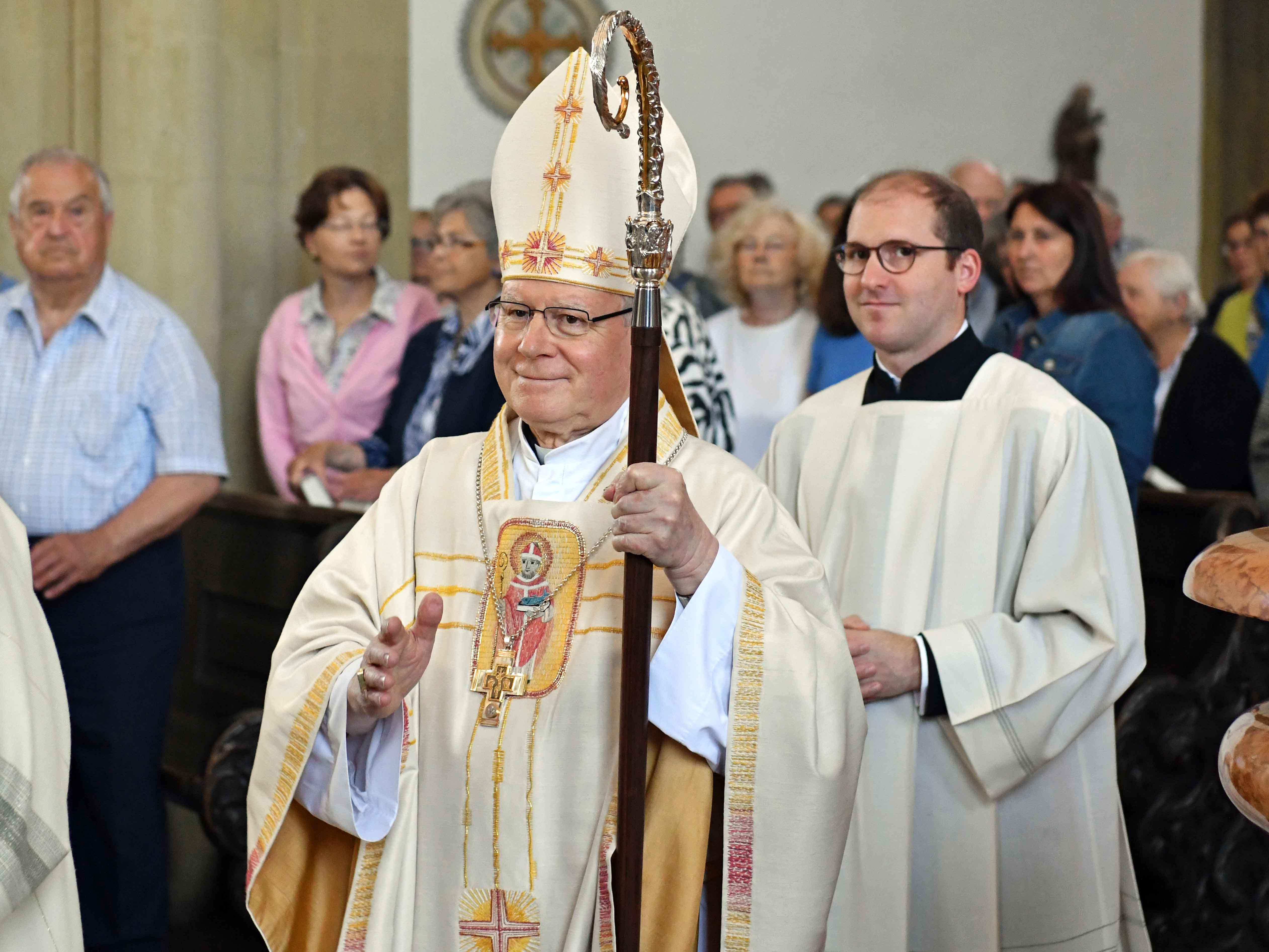 Das heutige Pontifkalamt zum Ulrichsfest war die letzte Amtshandlung von Bischof Konrad als amtierender  Bischof von Augsburg (Foto: Nicolas Schnall / pba).