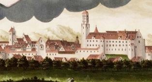 Dillingen um 1610 (Bild: Merian Matthaeus Nö Kupferst.; Frankfurt.a.M. 1643)
