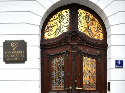 Der Eingangsbereich des Bischöflichen Ordinariats (Foto: Nicolas Schnall / pba).