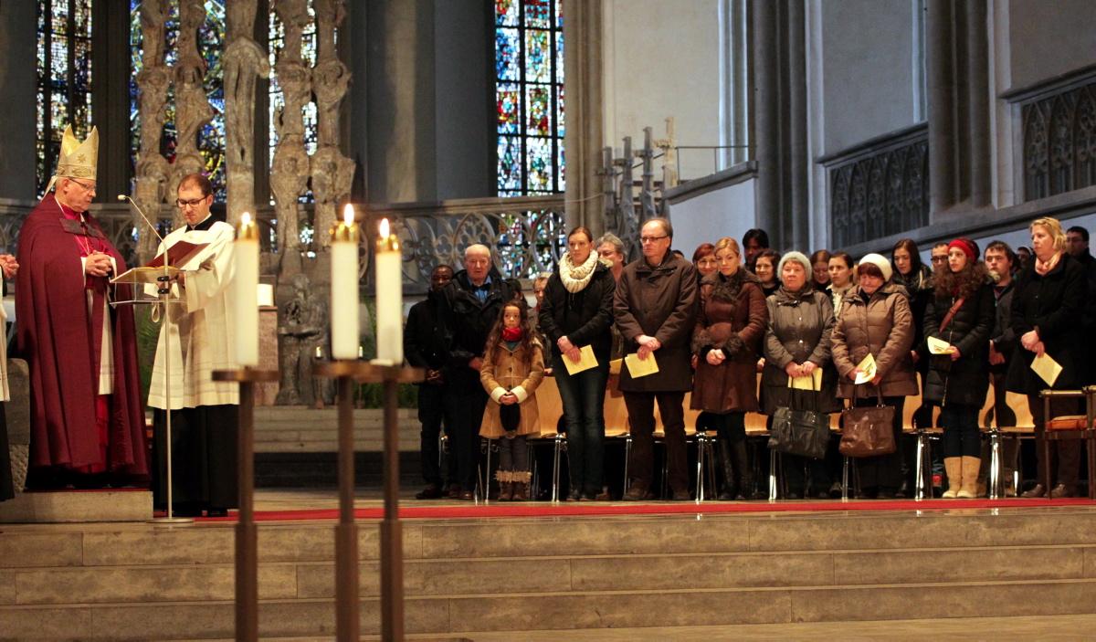 Die Bewerberinnen und Bewerber wohnen im Bistum Augsburg. Aber sie stammen aus verschiedenen Kontinenten. (Foto: Annette Zoepf/pba)