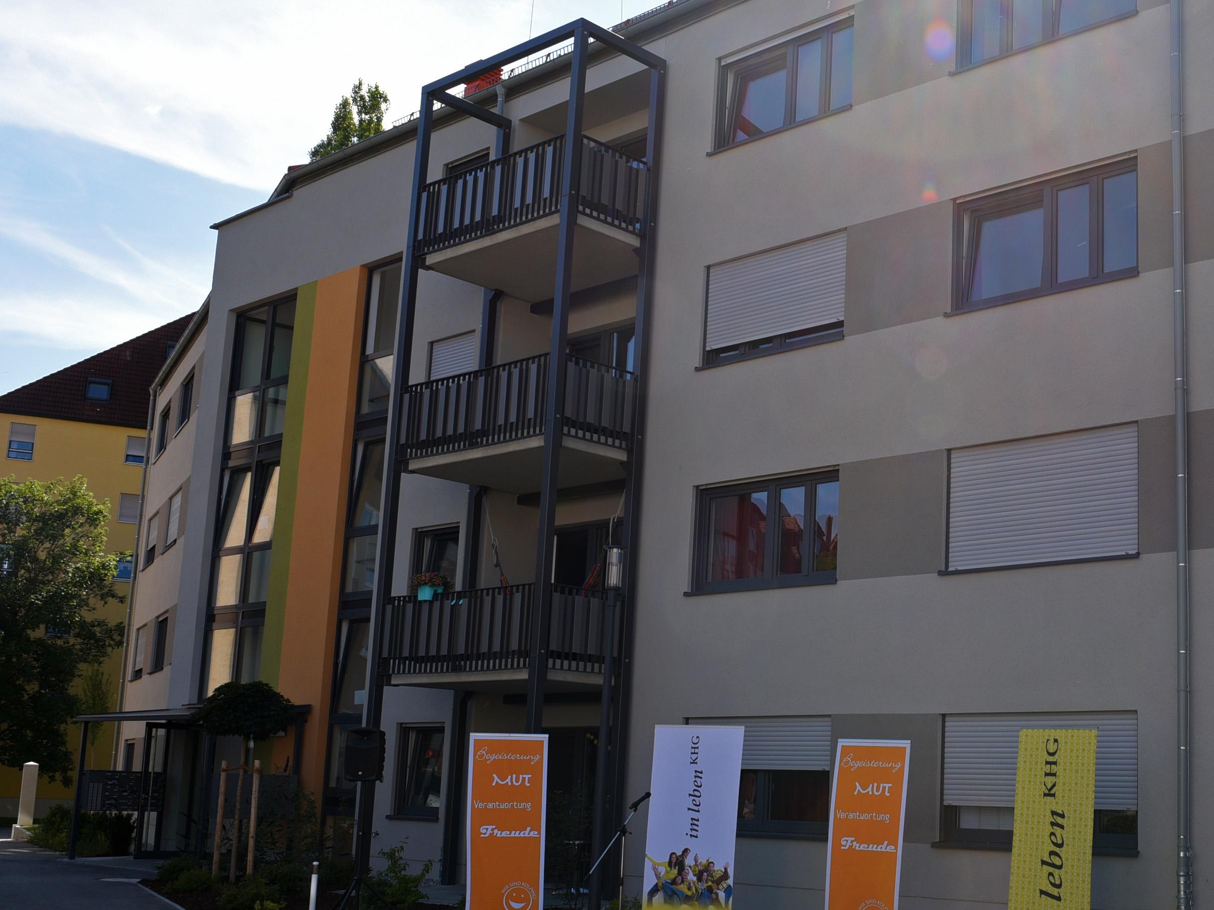 Der neue Anbau bietet Wohnraum für 54 Studierende. (Foto: Simone Zwikirsch/pba)