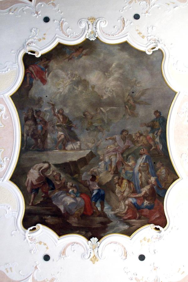 Deckengemälde in der Pfarrkirche Ungerhausen