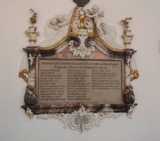 Priestertafel von St. Justina