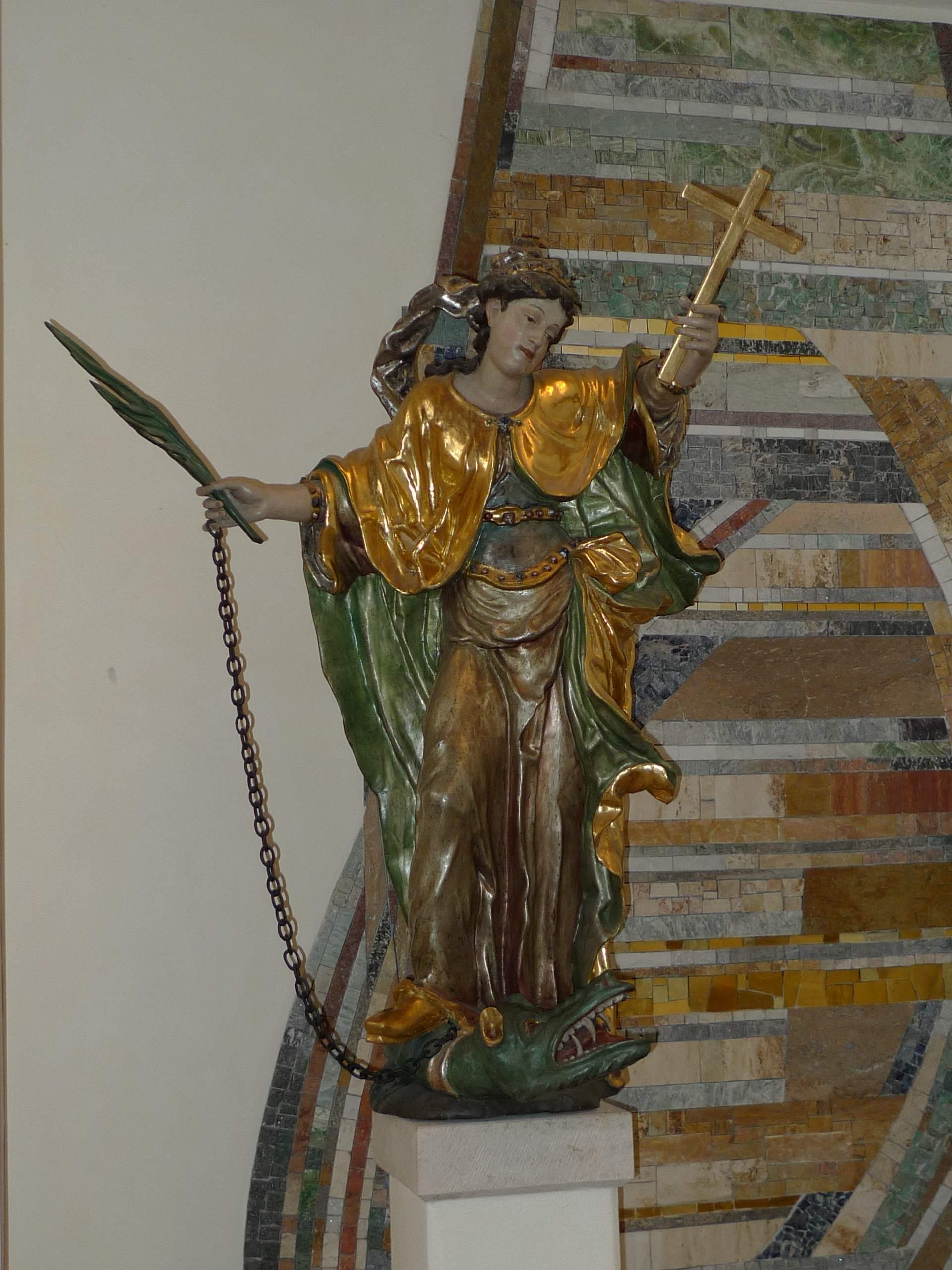 Die Hl. Margaretha in unserer Pfarrkirche