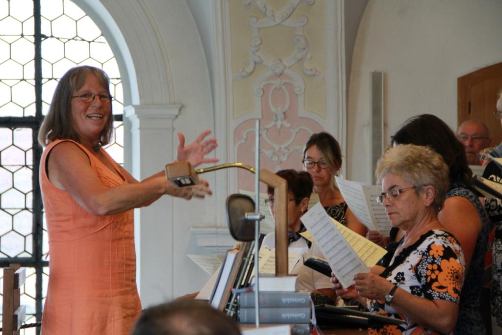 Frau Seiler am Dirigentenpult