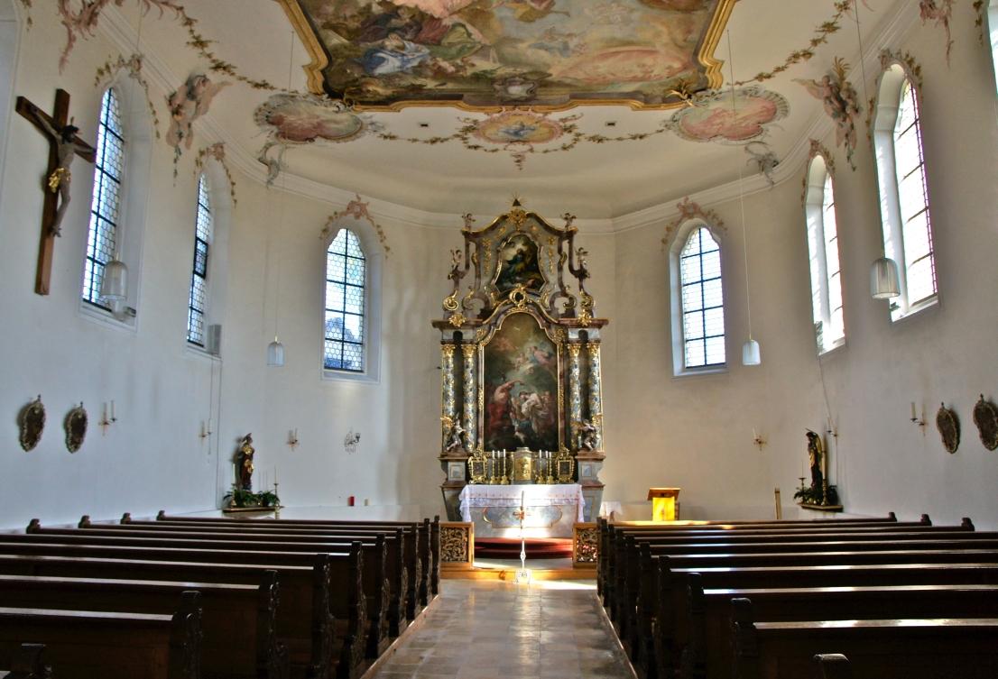Innenansicht St. Johannes Lauingen