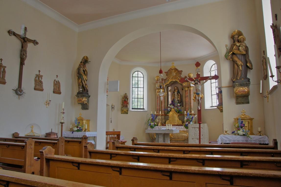 Innenansicht St. Vitus Veitriedhausen