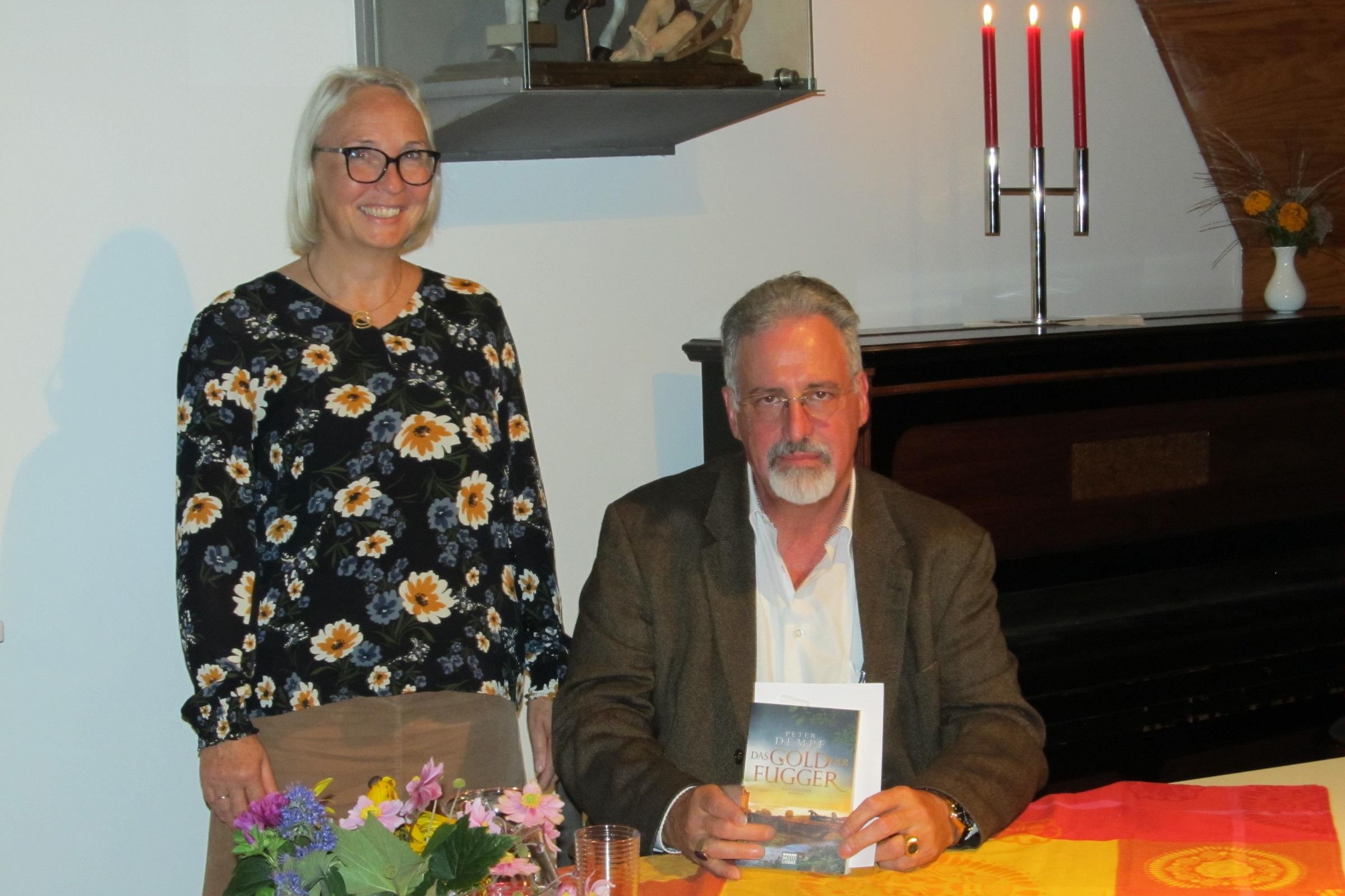 Gabi Meir mit dem Autor Peter Dempf