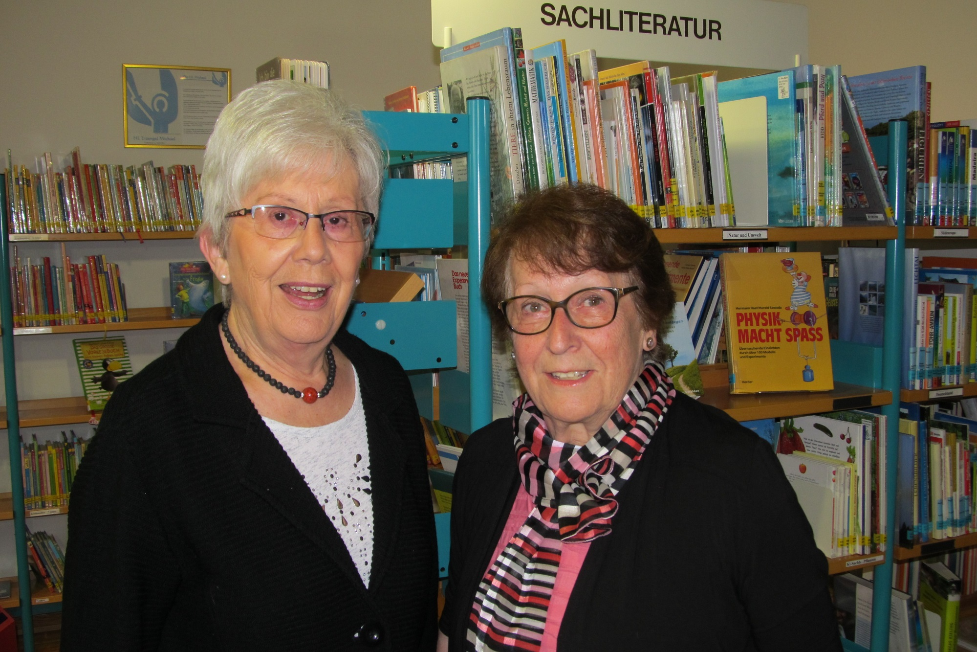 Maria Gerlach, unsere Finanzministerin zusammen mit Angela Wilfling