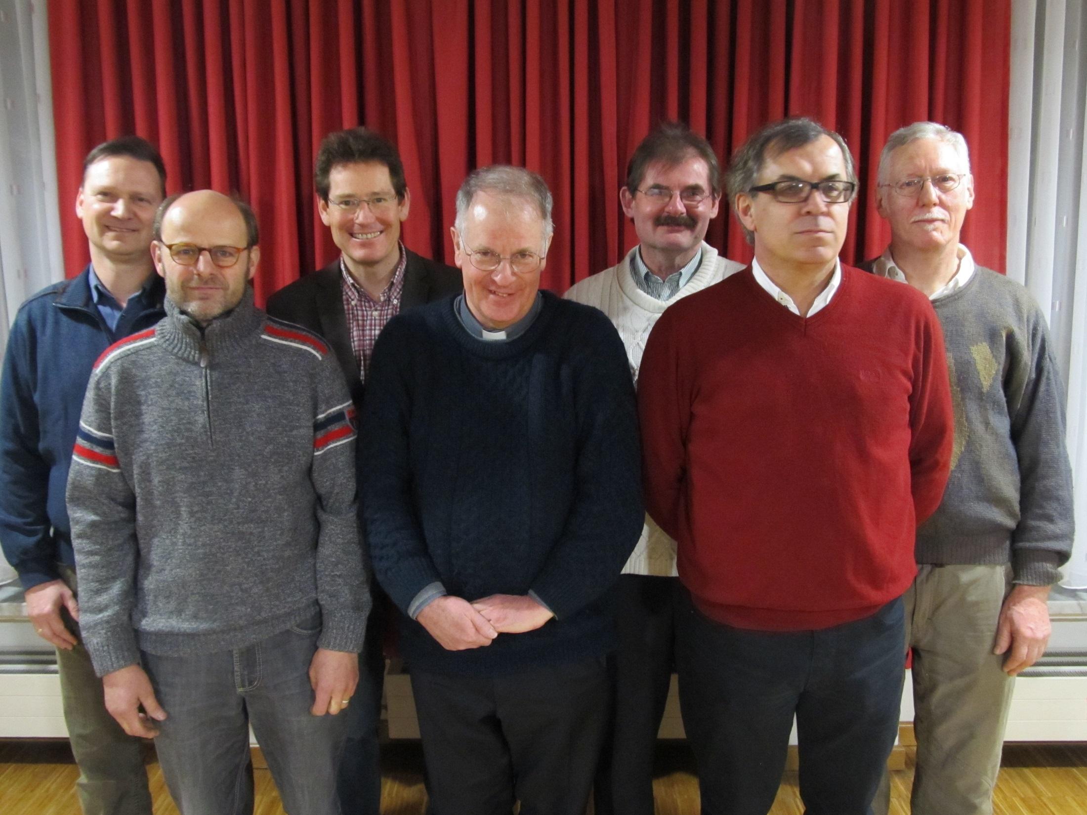 vlnr. M. Trenker, Ch. Wittmann, A. Eggert, P. Bernhard, J. Gebele, Z. Strika, J. Schuster