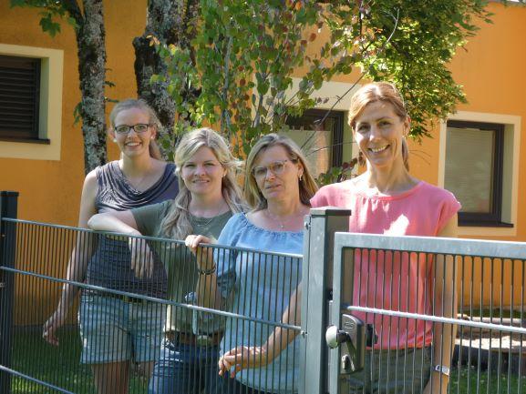 Raupennest:Katrin Huber, Kathrin Lerpscher, Sonia Mohr und Sylvia Oehme