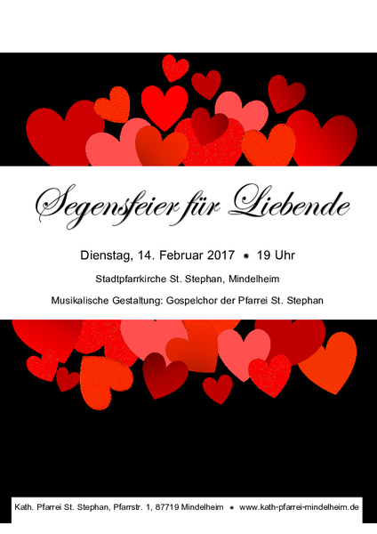 Segensfeier Für Liebende Am Valentinstag
