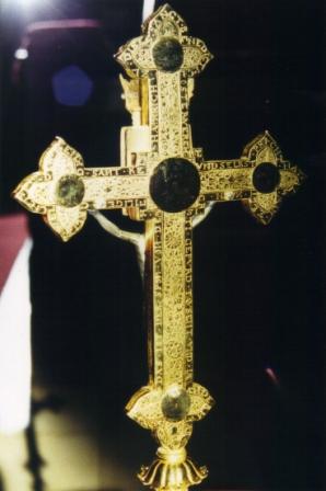 Wettersegen-Kreuz, Rückansicht mit Inschrift [Foto: Josef-Matthe Lochner]