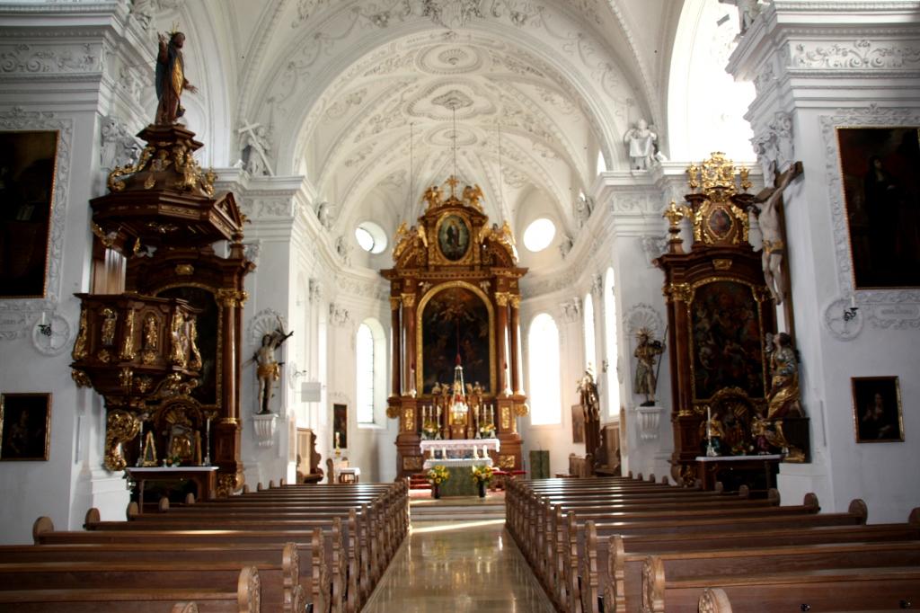 Pfarrkirche St. Magnus, Kühbach, Innenansicht 2010