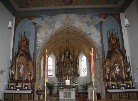 Pfarrkirche St. Martin, Unterbernbach, Innenansicht