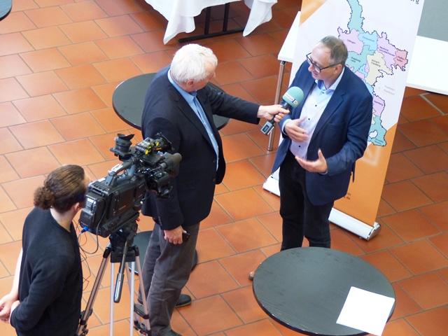 Interview mit Ulrich Bobinger, Programmchef katholisch1.tv: Dr. Hubertus Schönemann, kamp Erfurt (Foto: Beate Dieterle - Diözesanrat)