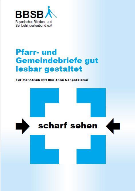 Titelbild: Pfarr- und Gemeindebriefe gut lesbar gestaltet